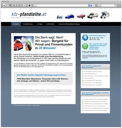 Pfandleihe Webseite
