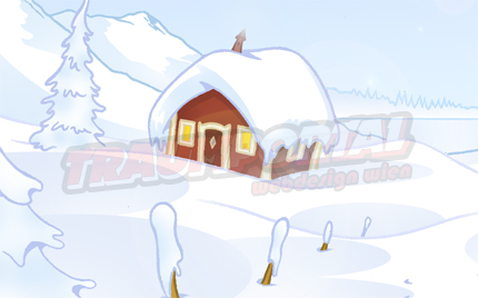 Schnee Winter Blockhütte Holzhütte im Schnee