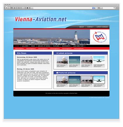 Vienna aviation web grafikdesign und bildergalerie for Grafik design praktikum wien