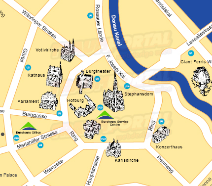 Wien karte tourismus karte wien plan gestaltung f for Grafik design praktikum wien