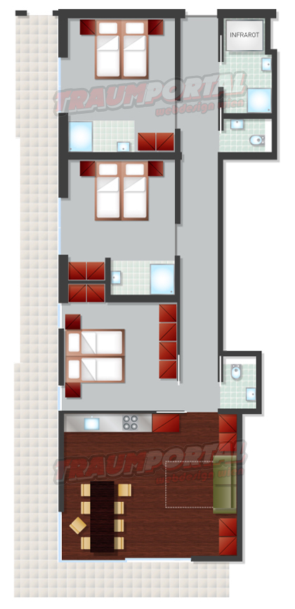 Grafik gestaltung von plan appartement design for Appartement design plan