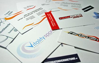 Visitenkarte Design Visitenkarten Grafik Druck