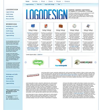 Logodesign grafikdesign von logo und emblem webseite for Grafik design praktikum wien