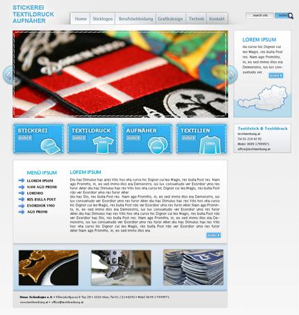 Textilwerbung Stickerei