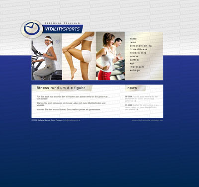 Fitness Webseite