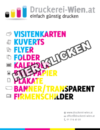 Druckerei Wien Plakate Kalender Visitenkarten